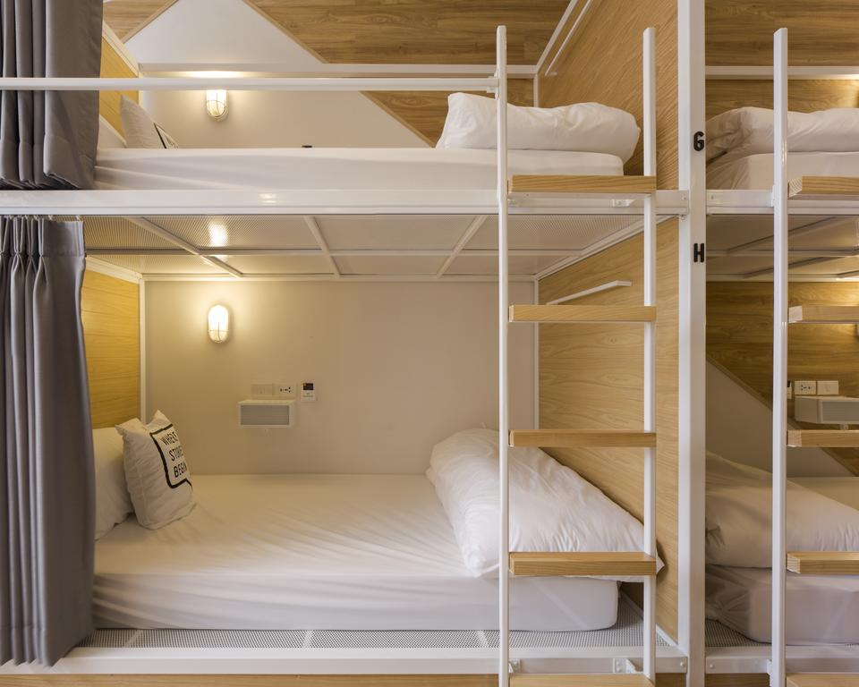 Bed One Block Hostel Design - bunk beds